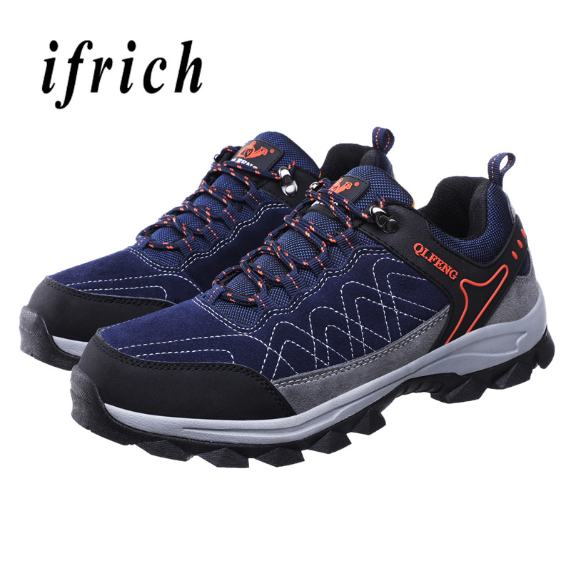 Man Outdoor Sneakers Spring Autumn Mens Hiking Shoes Green Dark Blue Trekking Shoes Men Comfortable Travel Male SneakersMan Outdoor Sneakers Spring Autumn Mens Hiking Shoes Green Dark Blue Trekking Shoes Men Comfortable Travel Male Sneakers