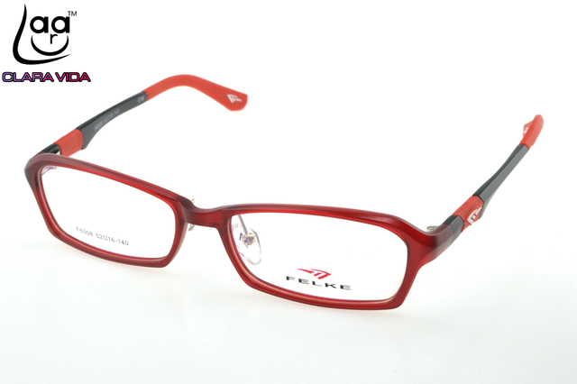 d49691f49fc TR90 Ultra Light Stereo Temple Red Designer Glasses Frame Custom Made  Optical Prescription Reading Glasses Photochromic +1 To +6