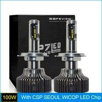 Auto Led Light H4 Car Headlights 5000K Bulb 100W 10000LM High Low Beam Head Lamp
