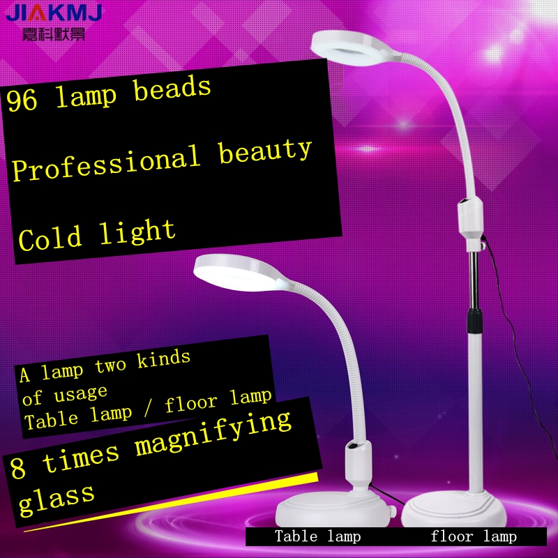 Highquality 220V 8X Circline LED Lamp Magnifying Glass Cold Ligth Operation Floor Shadowless Lamp Magnifier for Beauty Salon highquality 220v 8x circline led lamp magnifying glass cold ligth operation floor shadowless lamp magnifier for beauty salon