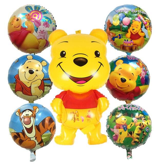 1pcs Winnie Pooh Foil Balloons Hot 7 Style Cartoon Bear Aluminum