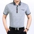 2016 Новый стиль лето мужская повседневная полосы с коротким рукавом рубашки поло