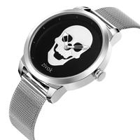 ZIVOK 2018 Pop Skull Quartz Watch Men Stainless Steel Silver Mesh Strap Steampunk Fashion Top Brand Design Wrist Watches