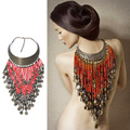 3 Colors Beads Gypsy Ethnic Vintage Tassel Choker Collares Bohemian Maix Necklace & Pendants Collier Necklace Women