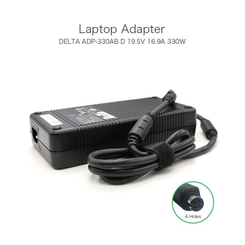 Original Delta 330W 19.5V 16.9A 4 Holes ADP-330AB D AC Adapter For ASUS ROG GX800VH-XS79K Gaming Laptop Power Supply genuine adp 150nb d 19 5v 7 7a 150w 5 5 2 5mm laptop ac dc adapter for asus g73j g53s g73s g53s g53sx adp 120zb bb power supply