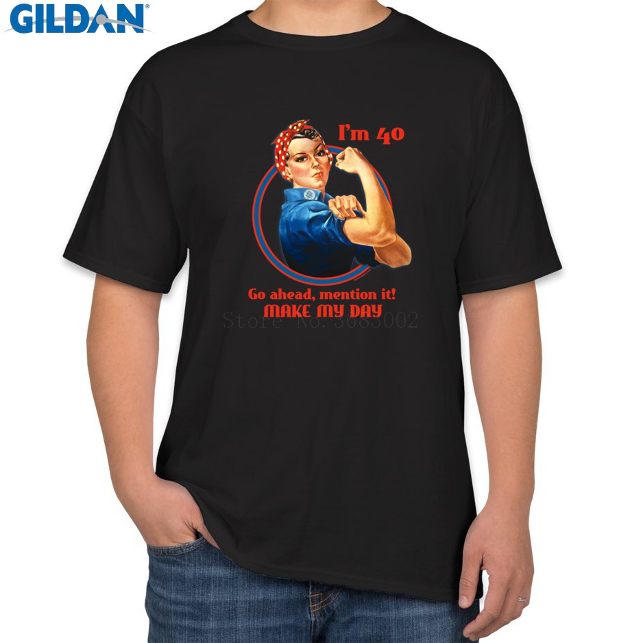 Designer New Style Men Tshirt Cotton Rosie Riveter 40th Birthday T Shirt For Clothing Cool Family Top Quality