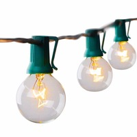 25Ft Clear G40 String Light With 25 G40 Bulb Outdoor Decro Christmas Lights Patio String Light
