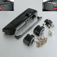 Chrome Black Tour Pak Pack Trunk Latch for Harley Touring Road King Street Glide Electra Ultra Classic FLHT FLHX 14 18 17 16