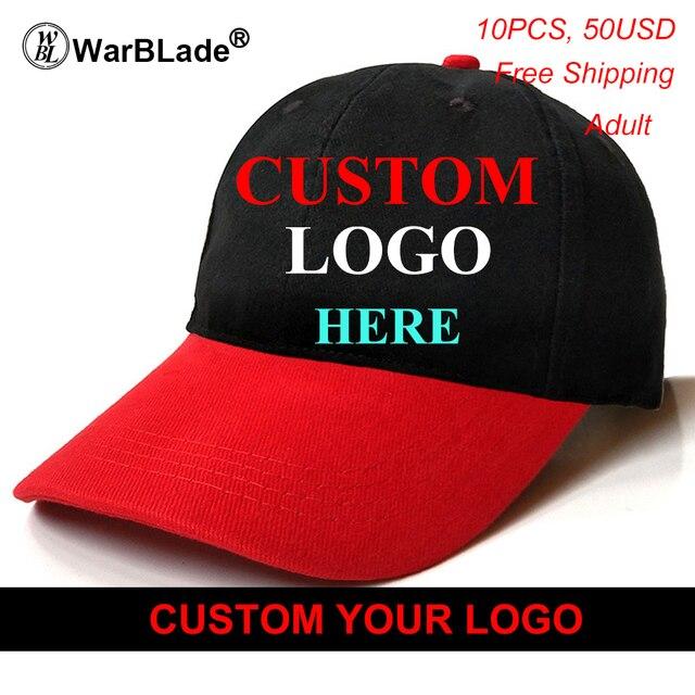 ef547dd2660 Custom Baseball Cap Print Logo Text Photo Embroidery Gorra Casual Solid  Hats Pure Color Black Cap Snapback Caps For Men Women