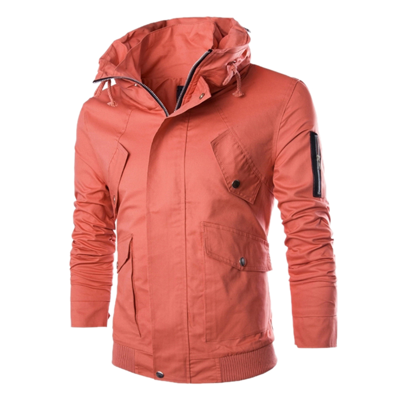 New Short Windbreaker Jacket Men 2017 Autumn/Winter Fashion Design Mens Slim Fit Windproof Jacket Brand Stylish Cargo Jacket men