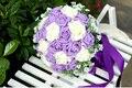 2017 Дешевые Свадебные/Невесты Букеты Фиолетовый и Белый Люкс Ручной Работы Искусственный Букет Роз де mariage рамо де-ла-бода