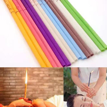 10Pcs/Set Treatment Therapy Fragrance Candling Healthy Care Ear Candles Beewax Wax Cleaner Massage D247
