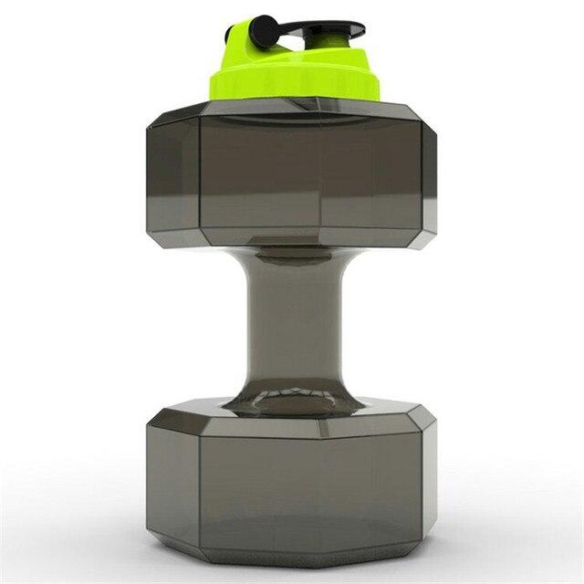 2.2L Dumbbell Design Large Capacity Sport Water Bottles Sports Gym Fitness Training Plastic Water Bottle Kettle Workout