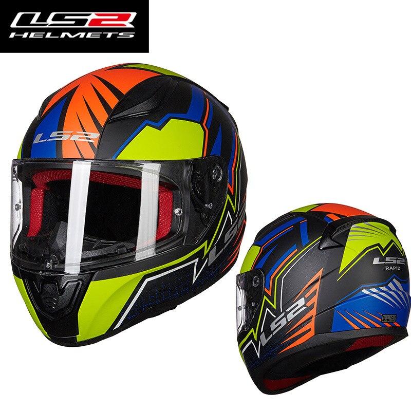 Originale LS2 FF353 alex barros fronte pieno del motociclo del casco ABS di sicurezza struttura LS2 Rapida strada caschi da corsa omologazione ECE