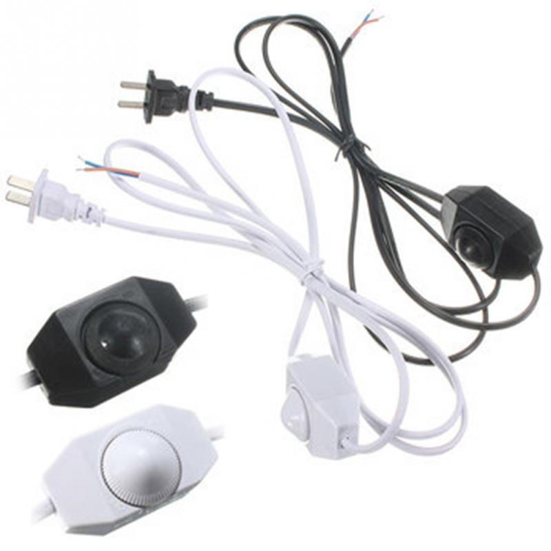White/Black AWG Switch on line Cable 1.8m On Off Power Cord Dimming Cable Light Modulator Lamp Line Dimmer US plug 3 pcs on line cable 1 8m on off power cord for led lamp with push button switch us eu plug wire light switching black white