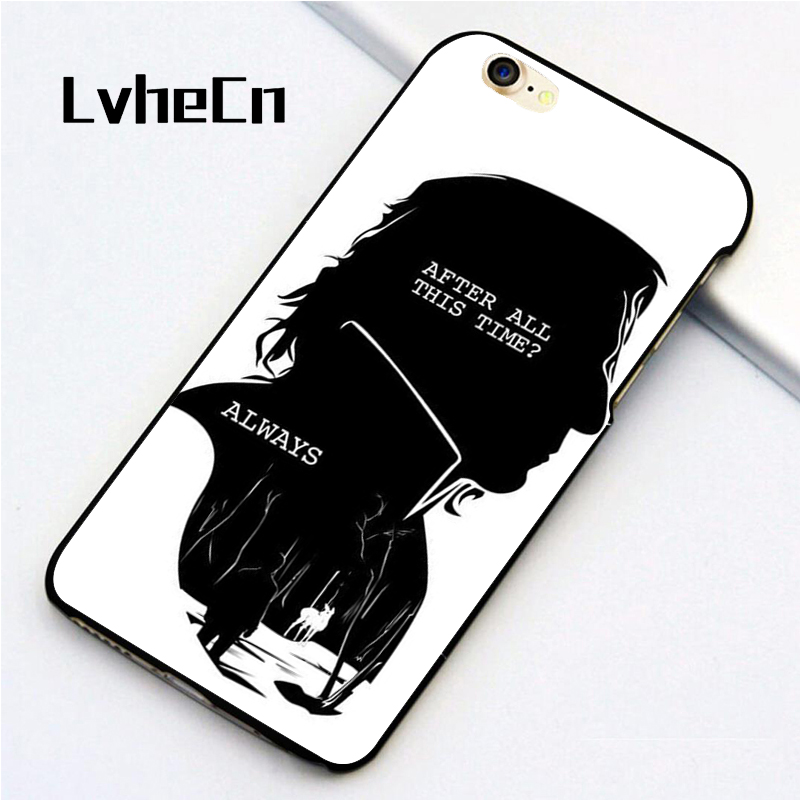 LvheCn 5 5S SE phone cover <font><b>cases</b></font> for <font><b>iphone</b></font> 6 6S 7 <font><b>8</b></font> Plus X back skin shell New <font><b>HARRY</b></font> <font><b>POTTER</b></font> QUOTES RON HERMIONE SNAPE image