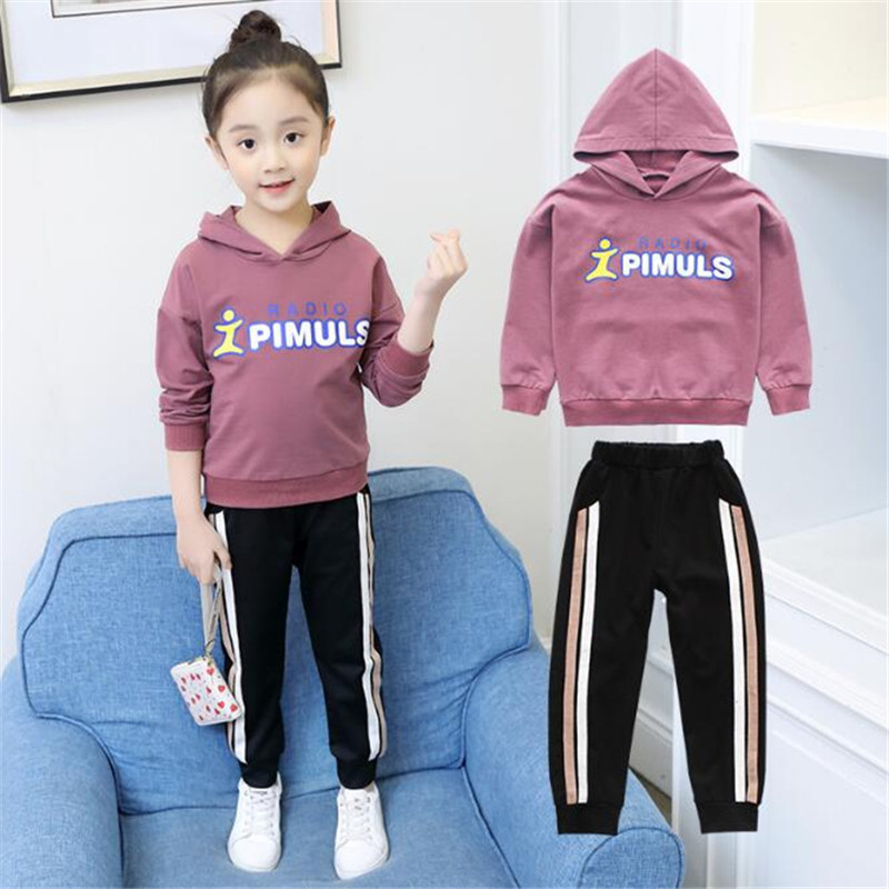 Children Clothing Sets For Girls Spring Autumn Kids Casual Sports Suits Teenage Girl Tracksuits Set Girls Tracksuit Set