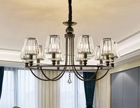 2019 new modern chandelier ceiling lamp simple light luxury bedroom restaurant crystal living room lamp