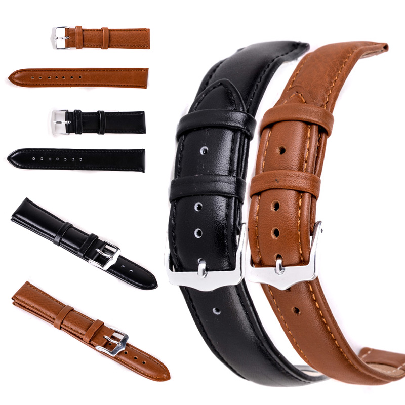 12mm/14mm/16mm/18mm/20mm/22mm/24mm Genuine Leather Watchband High Quality Unisex Sport Wrist Watch Band Strap Belt For Watch цена