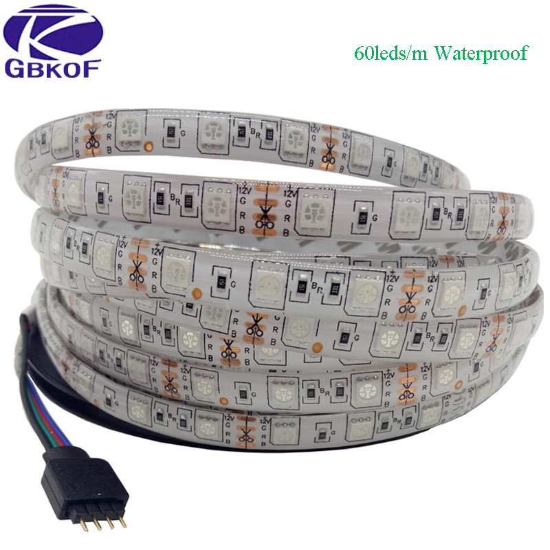 SMD5050 RGB led strip Waterproof 5M 300LED DC 12V RGBW RGBWW Fita LED Light Strips Flexible Neon Tape Luz Monochrome ledstrip smd 3528 rgb led strip lights not waterproof 5m 60led m dc 12v rgb white fita led flexible strips light neon tape luz monochrome