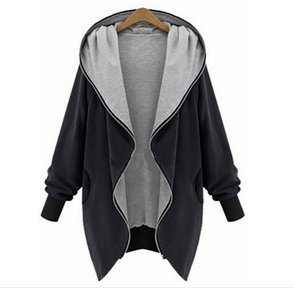 Jacket Coat Women's Hooded American Autumn Large-Size Casual Fashion European And 989
