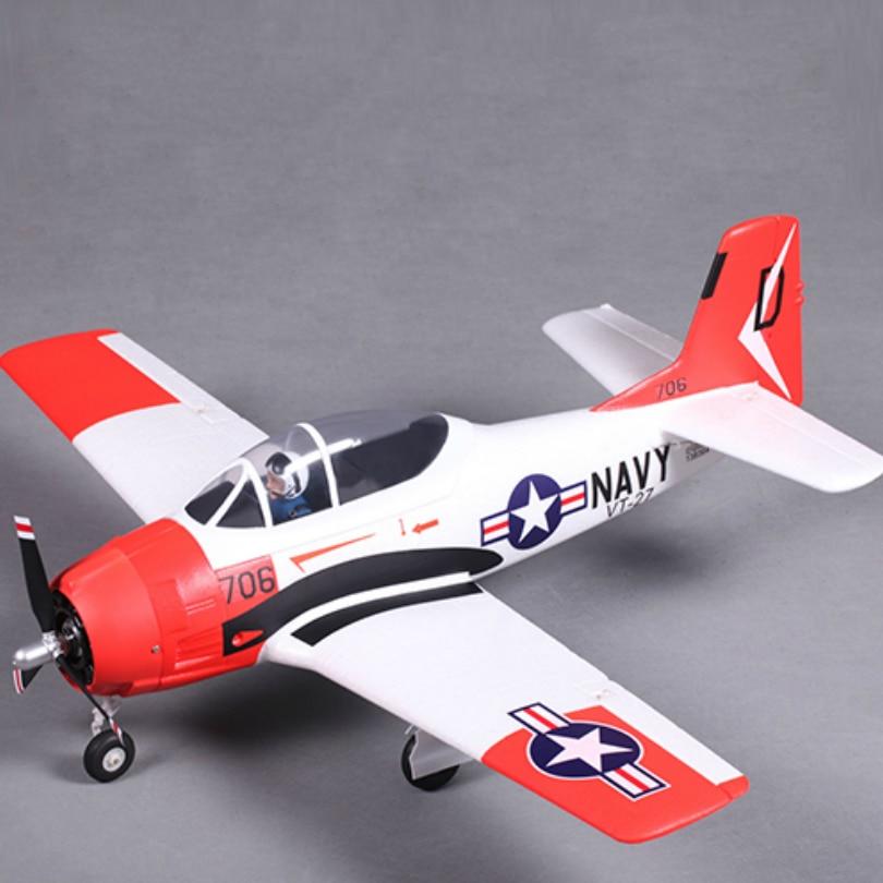FMS 800MM Mini T28 T-28 Trojan V2 with Reflex Gyro Red 4CH 2S PNP EPO RC Airplane Scale Warbird Model Plane Aircraft War II