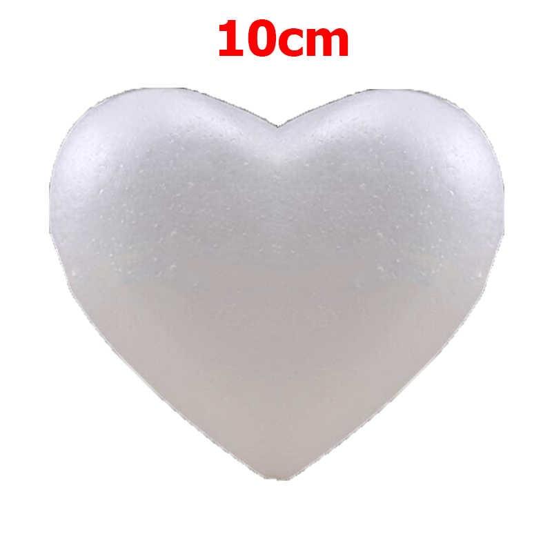 Ornement creux en mousse de polystyrène, en forme de cœur blanc bricolage en mousse ours de peluche Rose fournitures de décoration de mariage 6 pièces