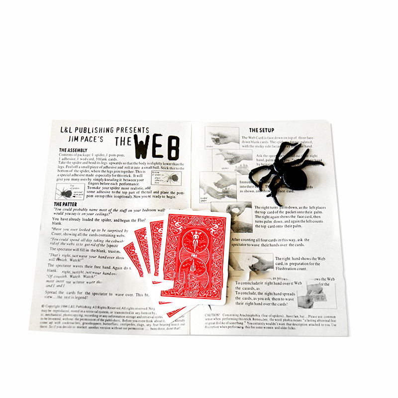 1 Set Spider and net close up street magic tricks magician prop Zauberartikel & -tricks
