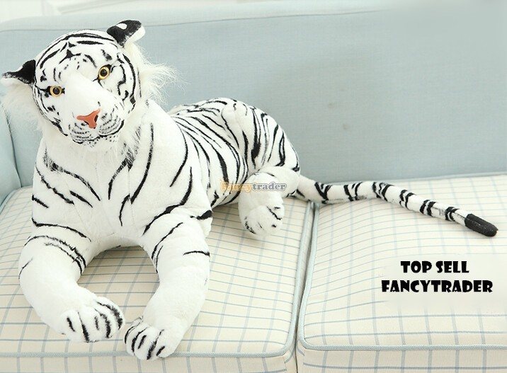 Fancytrader 51\'\'  130cm Giant Stuffed Emulational Tiger, 2 Colors Available, Free Shipping FT90241 (7)