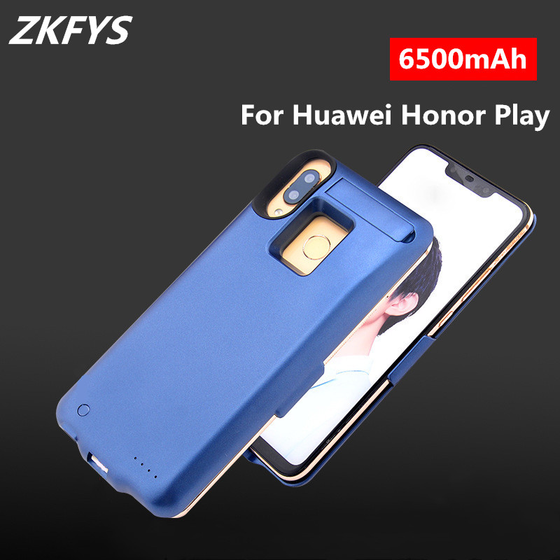 6500mAh High Quality Ultra Thin Fast Charger Battery Case For Huawei Honor Play Power Bank Back Clamp Battery Charging Cover in Battery Charger Cases from Cellphones Telecommunications