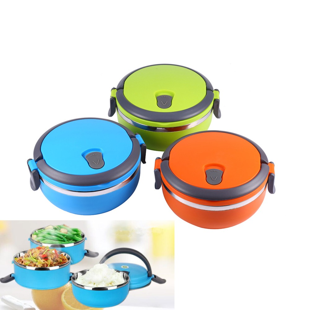 Kids Stainless Steel Lunch Box Thermal Insulated Lunch Box Bento Food Picnic Container With Handle Bento Lunch Box For Kids  цены