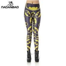 Batman Women's Leggings High Waist  Logo Badge Printed Skinny Leggings
