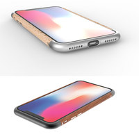 Original LJY for iPhone X XS Wood+ Series Aluminum + Wooden Protective Hard Bumper Frame Cases Fundas Cape Free Lens Circle Gift
