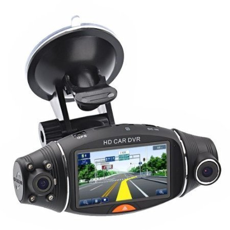 Dual Lens Dash Cam HD Car Camera Video Recorder Car DVR Camera G-sensor GPS Logger R310 2.7 TFT LCD Infrared Night Vision findfine 1 5 inch screen ltps tft lcd 4x digital car driving camera video recorder dvr night g sensor sos m867