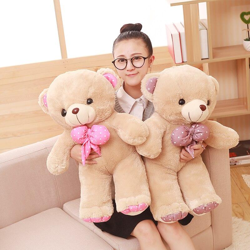 60/80 см мягкая игрушка медведь с галстуком pp чучело из хлопка куклы Высокое качество жир плюшевая подушка с медвежатами детские игрушки пода...