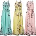 Belva 2016 mulheres bohemia floral imprimir maxi dress 177