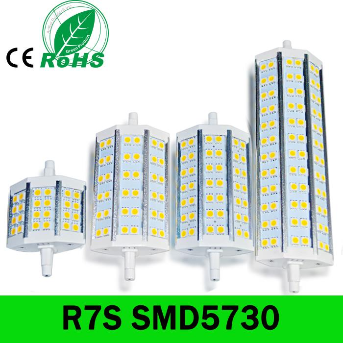 R7S LED 118mm 78mm 189mm SMD5730 Bombillas LED R7S 15W 25W 30W 35W J78 J118 J189 LED R7S Dimmable Replace Halogen Floodlight 1pc