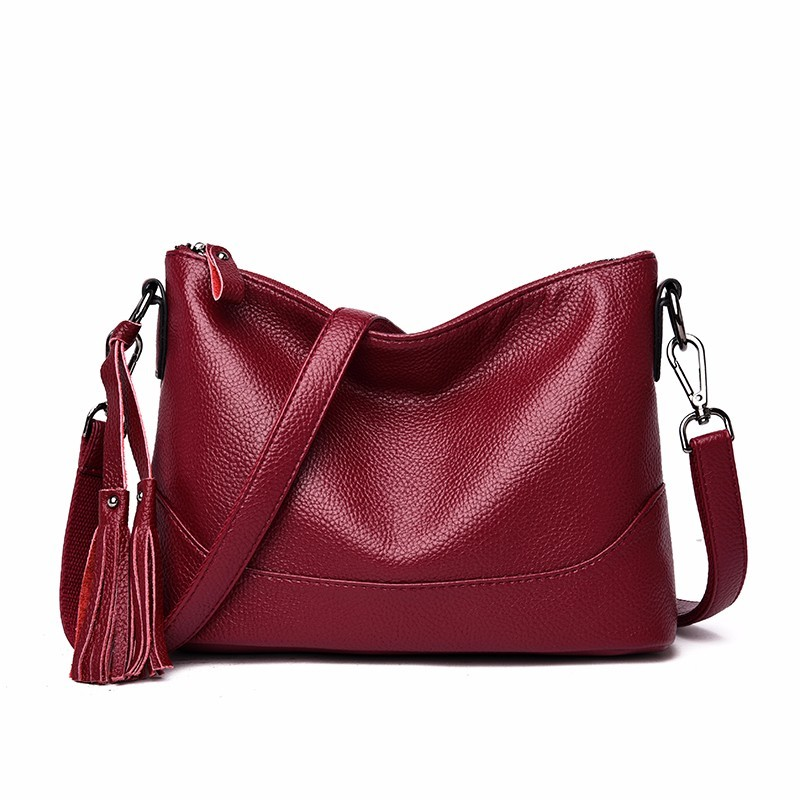 Women Leather Handbags High Quality 2019 Ladies Hand Bag Female Soft Leather Shoulder Bag Vintage Bags For Girls Sac A Main New