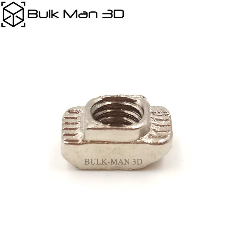 M3/M4/M5 20 Series Slot T-Nut Sliding T Nut Hammer Drop In Tee Nut Fasten Connector 2020 Aluminum Extrusions - 100pcs