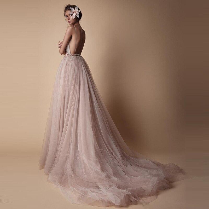 Rose Fleur Bal Robes Parti De Tutu Tulle Festa Robe D'été V Longue Jolie Sexy Formelle 2018 Nu Col Profond 3d Dos SYx4wRnqE