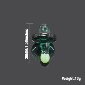 Image 2 - HORNET Premium Universal Solid Colored Glass UFO Carb Cap Dome for Glass Water Pipes 38MM Dab Oil Dab Rigs Quartz Banger Nails