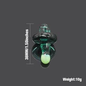 Image 2 - Hornet premium universal sólido vidro colorido ufo carb tampa cúpula para tubos de água vidro 38mm dab óleo plataformas quartzo banger pregos