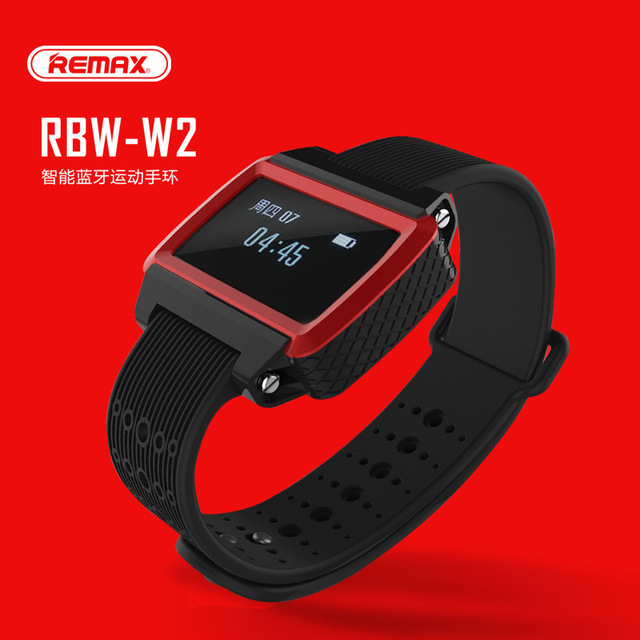 US $28 8 20% OFF|New REMAX RBW W2 wireless Bluetooth smart motion tracking  bracelet with pedometer sleep monitor remote control camera function-in