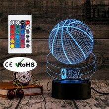 3D Led Novety Lighting Creative Gift Night Light Table Lamp Basketball Light Led Home Corridor Hotel Party Atmosphere Lights