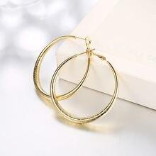Круглые серьги кольца позолоченные желтые классические женские