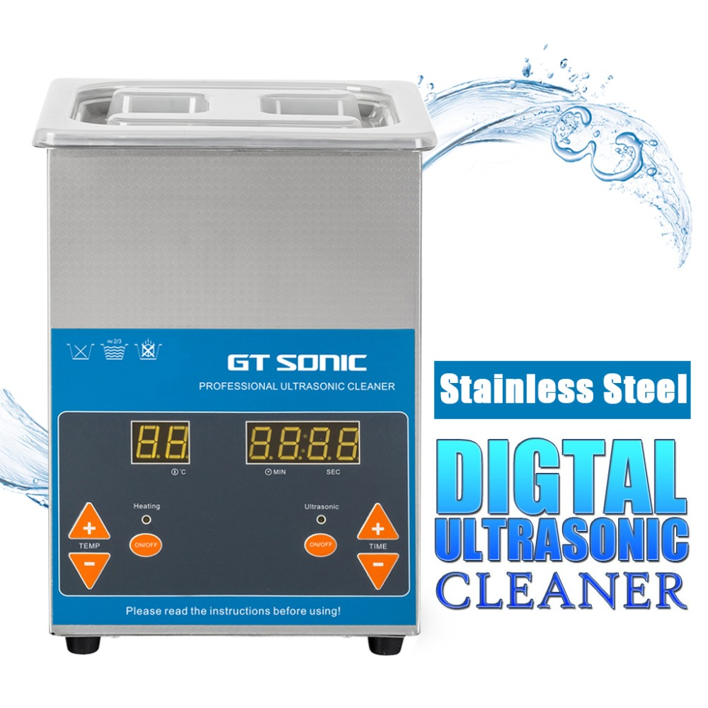 GT SONIC VGT 1620QTD 2L Ultrasonic Cleaner Digital Stainless Steel ...