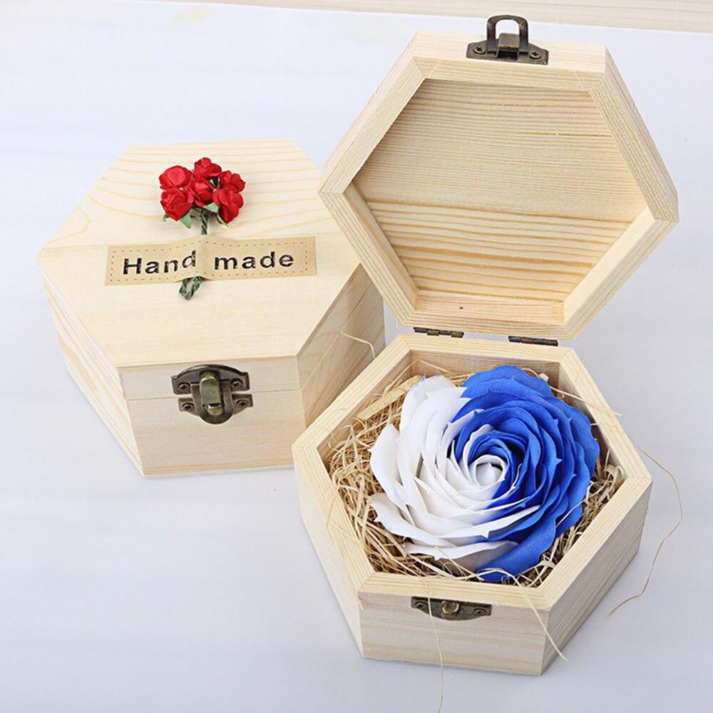 Macaroon Bath Body Flower Soap Box Rose Wedding Decoration Festival ...