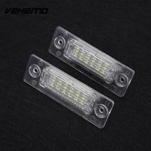 Vehemo автомобиль Транспортное средство 18 светодиодов Номер Номерные знаки для мотоциклов свет лампы для VW Touran Passat