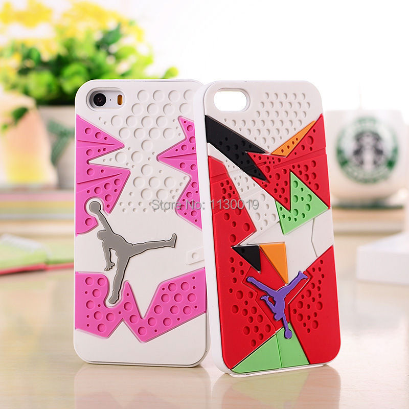 separation shoes e9b5e 414aa US $4.1 18% OFF|New 3D Air Jordan Shoe Sole PVC+Rubber Cases For iPhone  5/5S, AJ jumpman 23 Back Cover Phone Cases for iPhone SE,Free Shipping-in  ...