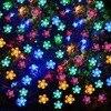 VUAN Solar Flower Fairy String Lights 50 LEDs Waterproof Flower Outdoor Decoration Lighting For Patio Lawn